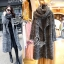 Winter Big Shawl Collar Long Knit Coat thumbnail 1