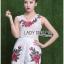 เสื้อผ้าเกาหลี พร้อมส่งเพลย์สูทขาสั้นผ้าลูกไม้ปักดอกกุหลาบสีแดง3D thumbnail 8