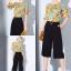 เสื้อผ้าเกาหลีพร้อมส่งชุด Set 2 ชิ้น เสื้อคอกลม แขนระบาย+กางเกงขายาว 9 ส่วน thumbnail 6