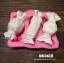 silicone mold ทำวุ้น กัมเพส ฟองดอง ลาย ทอฟฟี่ 3 ช่อง thumbnail 2