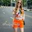 เสื้อผ้าเกาหลี พร้อมส่งน่ารักฝุดๆ กับชุดเข้าเซต เสื้อพิมลายตัวการ์ตูน thumbnail 8