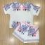 เสื้อผ้าเกาหลี พร้อมส่งJewerly Printing Line Top + Short Set thumbnail 5