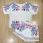 เสื้อผ้าเกาหลี พร้อมส่งJewerly Printing Line Top + Short Set thumbnail 4