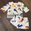 เสื้อผ้าเกาหลี พร้อมส่งเซ็ตเสื้อ+กางเกงขาสั้น พิมพ์ลายนกนาๆชนิด thumbnail 7