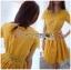 ชุดเดรสเกาหลี พร้อมส่งมินิเดรสผ้าคอตตอนตกแต่งผ้าลูกไม้สไตล์แบรนด์โคลเอ้ thumbnail 5