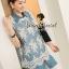 ( พร้อมส่งเสื้อผ้าเกาหลี) Set Cami-Shirt Blue Denim Dress with Lace Blouse Outer thumbnail 1