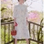 Blooming Flower Printed Chiffon Ruffle Maxi Dress thumbnail 5