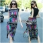 Alice Vivid Colorful Graphic Printed Maxi Dress thumbnail 1