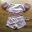 Leslie Color-Blended Pink Off-Shoulder Top and Shorts Set thumbnail 7