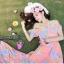 เสื้อผ้าเกาหลี พร้อมส่ง งาน Maxi ผ้าชีฟองเนื้ออย่างดี พิมลายดอกไม้สีสดใส รับ Summer thumbnail 5