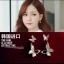 ต่างหูผีเสิ้อ เพชรงานดีไซส์หรูหรา เพชร CZ ราคา 890฿ Made in korea thumbnail 2