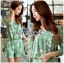 เสื้อผ้าเกาหลี พร้อมส่งเพลย์สูทสีเขียวมิ้นท์พิมพ์ลายดอกเดซี่สไตล์เฟมินีน thumbnail 10
