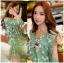 เสื้อผ้าเกาหลี พร้อมส่งเพลย์สูทสีเขียวมิ้นท์พิมพ์ลายดอกเดซี่สไตล์เฟมินีน thumbnail 11