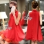 So Hot Ribbon Neck Sleeveless A Line Mini Dress thumbnail 4