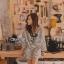 เสื้อผ้าเกาหลี พร้อมส่ง มินิเดรสน่ารักๆผ้า Cotton thumbnail 1