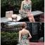 เสื้อผ้าเกาหลี พร้อมส่ง เดรสเกาะอก เนื้อผ้าcottonนุ่มนิ่มพิมพ์ลายดอกไม้ใบไม้คมชัด thumbnail 6