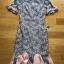 ชุดเดรสเกาหลีพร้อมส่ง เดรสผ้าลูกไม้สีเทาชมพูตกแต่งระบายสีชมพู thumbnail 8