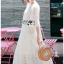 Jenny Laser-Cut and Embroidered White Cotton Dress thumbnail 5