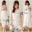 Grace Elegant Cotton Embroidered and Lace Chiffon Maxi Dress thumbnail 8