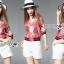 เสื้อผ้าเกาหลี พร้อมส่งแจ๊กเก็ตสีชมพูพิมพ์ลายสไตล์สปอร์ตแบบกุชชี่ thumbnail 2