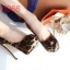 รองเท้าคัชชูส้นสูงเปิดหน้าเล็กน้อย ดีไซน์งานผ้าซาติน ลายเสือ สวยไฮโซ ใส่ออกงาน เลิศๆ เลยจ้า สูง 14 ซม เสริมหน้า 4 ซม  thumbnail 2