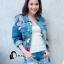 เสื้อผ้าเกาหลี พร้อมส่ง3D Butterfly Denim Jacket thumbnail 6