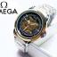 นาฬิกาแฟชั่นแบรนด์ omega *รายละเอียดสินค้า* -นาฬิกาสายเลส สี 2 เค สีเงิน -ระบบเรือน ออโต้ โชว์เฟือง -เพศที่สวมใส่ ชาย -ขนาดหน้าปัด 40 mm. ราคา 1090฿ thumbnail 1