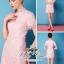( พร้อมส่งเสื้อผ้าเกาหลี) เดรสแบรนด์ Valentino เนื้อผ้าลูกไม้สีชมพูหวาน เนื้อผ้า70%polyester 30%silk ตัดแต่งระบายคอ/ปลายแขน/ชายกระโปรงด้วยลูกไม้แบบ eyelash กลมกลืนสวย ช่วงเอวตัดเย็บเหมือนใส่ชุดสองชิ้น เข้ารูปเน้นซิลลูเอทเว้าโค้งสวย มีซับในในตัวนะคะ thumbnail 5