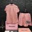 เสื้อผ้าแฟชั่นพร้อมส่งชุดเซท คอลลาสุด ลายผ้าเฉพาะแบรน Miu Miu thumbnail 3