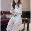 Ariana Round n' Round Cotton Embroidered Top and Pants Set thumbnail 1