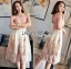 Courtney Feather Embroidered Silk Organza Dress thumbnail 5