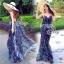 LBT Classy Feather V-Back Maxi Dress thumbnail 1