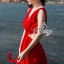 Ribbon Shoulder Sexy Waist Back Red Hot Maxi Dress thumbnail 5
