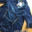 เสื้อผ้าเกาหลี พร้อมส่งโค้ตเดรสผ้าเดนิมประดับกระดุมสองแถว thumbnail 5