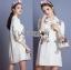 เสื้อผ้าเกาหลี พร้อมส่งเชิ้ตเดรสสีขาวปักลายครอสติส thumbnail 6