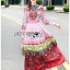 Ella Fancy Colourful Embellished and Printed Crepe Long Dress thumbnail 1