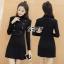 ชุดเดรสเกาหลี พร้อมส่งMini dress ไหมพรมลุคเรียบหรู thumbnail 3