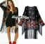 Ria Hippy Floral Printed Fringe Outerwear thumbnail 4
