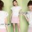 เสื้อผ้าเกาหลี พร้อมส่งเสื้อผ้าลูกไม้สีขาวสไตล์คลาสสิกวินเทจ thumbnail 3