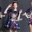 เสื้อผ้าเกาหลี พร้อมส่งD&G Style Embroider Denim Dress thumbnail 4
