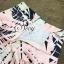 เสื้อผ้าเกาหลี พร้อมส่ง Set เสื้อกระโปรงลายชายทะเลโทนสีพาสเทล กระโปรงทรงเอพิมพ์ลายใบไม้สีสันแสนหวาน thumbnail 9