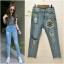 เสื้อผ้าเกาหลีพร้อมส่ง กางเกงยีนส์ ขายาว ทรงบอย งาน Zara ผ้าด้าน thumbnail 7