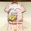 เสื้อผ้าเกาหลี พร้อมส่งเสื้อเนื้อผ้าเงา ลื่น ใส่แมทซ์กับกางเกงขาสั้นลายตารางส้มขาว thumbnail 4