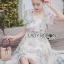 Leandra Magic Garden Ruffle Printed Chiffon Dress thumbnail 6