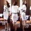 เสื้อผ้าเกาหลี พร้อมส่ง เซ็ตเสื้อคลุมโทนสีขาวตัวสั้นตัดแต่งขอบสีดำ thumbnail 9