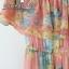 เสื้อผ้าเกาหลี พร้อมส่ง งาน Maxi ผ้าชีฟองเนื้ออย่างดี พิมลายดอกไม้สีสดใส รับ Summer thumbnail 7
