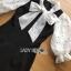 ชุดเดรสเกาหลี พร้อมส่งเดรสผ้าคอตตอนผสมสเปนเดตยืดได้และผ้าชีฟองลายจุด thumbnail 12