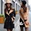 Korean woolen coat collar double-breasted wool coat thumbnail 1