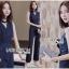 เสื้อผ้าเกาหลีพร้อมส่ง จัมป์สูทผ้าเครปลายทางสไตล์สมาร์ทแคชชวล thumbnail 2