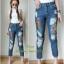 เสื้อผ้าแฟชั่นพร้อมส่ง กางเกงยีนส์ ขายาว ทรงบอย งาน Zara thumbnail 1